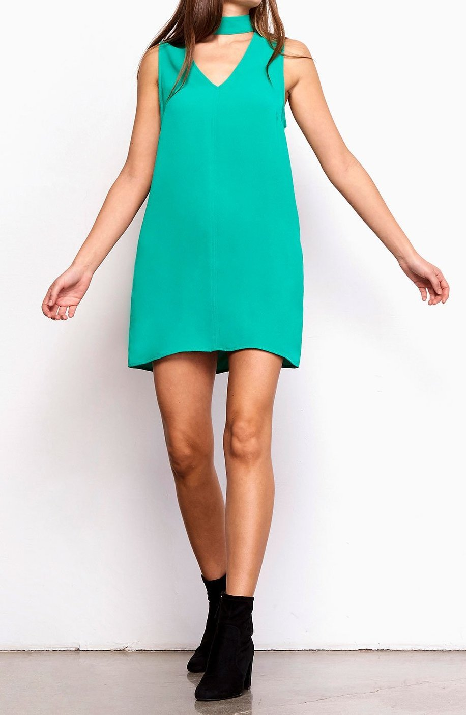 BB DAKOTA MOMSEN SHIFT DRESS - PEPPER GREEN