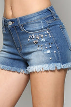 MID RISE JEAN SHORTS
