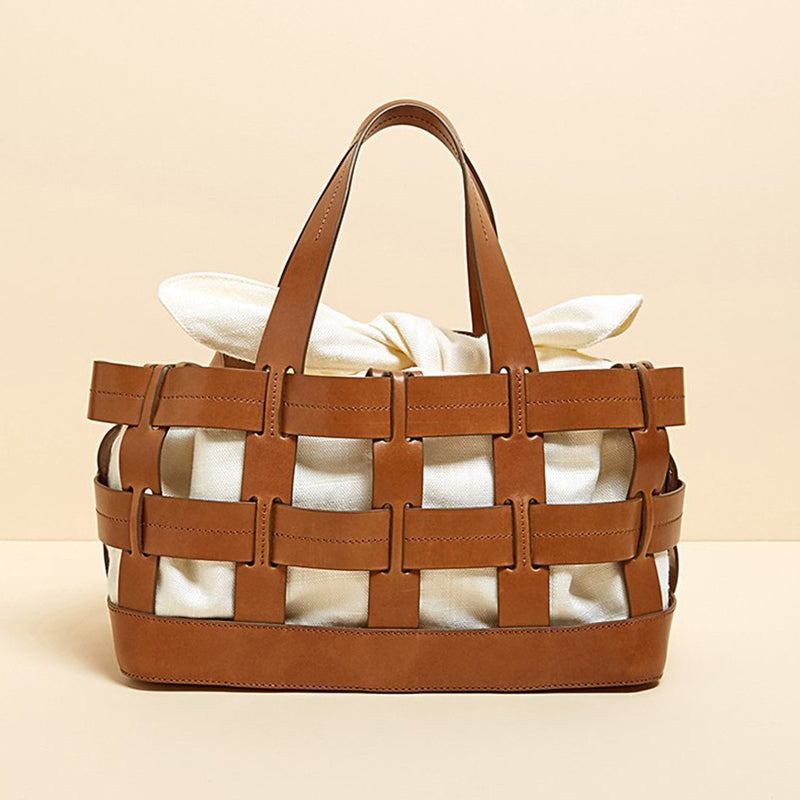 23635ba40ff0 New 2018 Hot Item Chic Fashion Canvas Weaving Hollow Out Basket Tote Bag