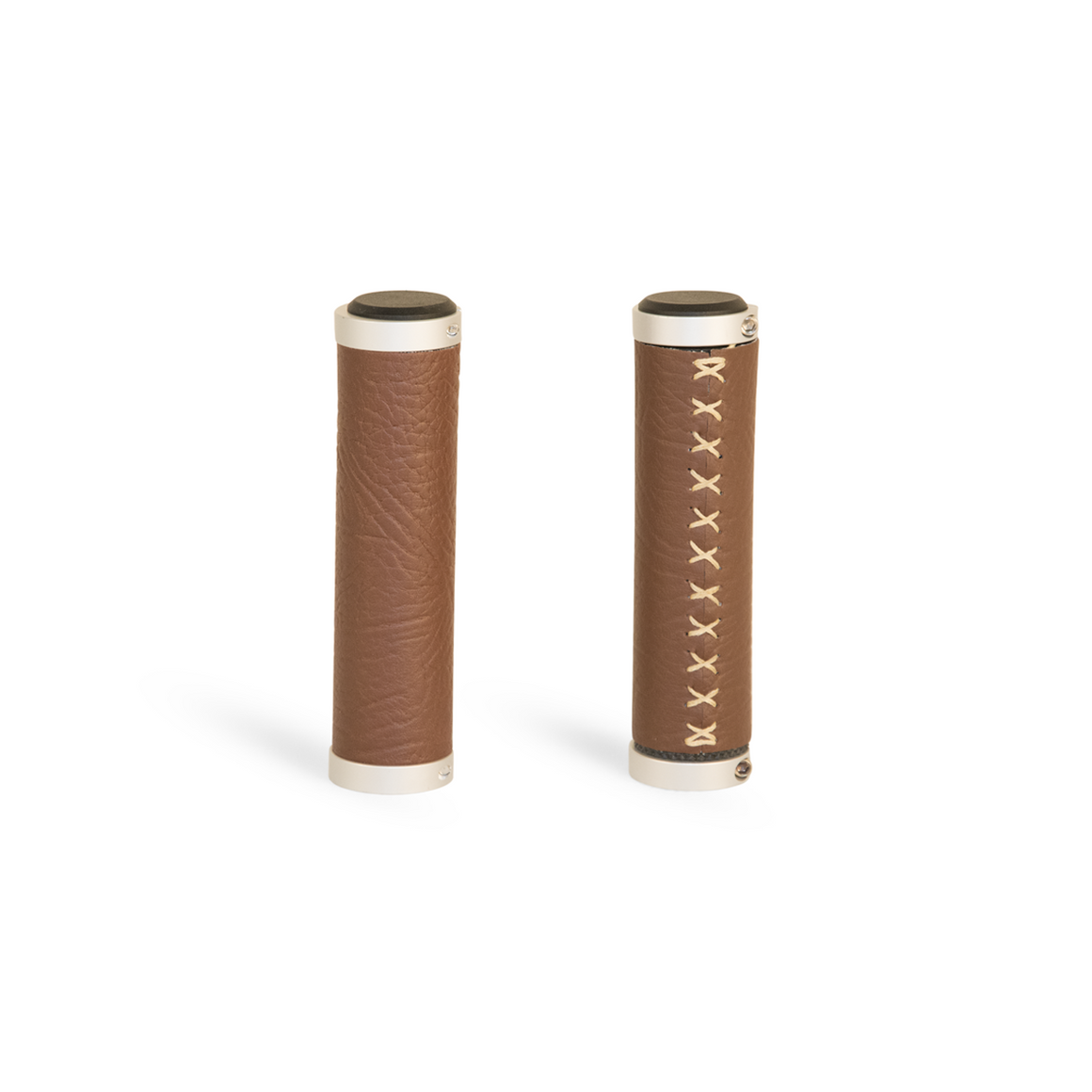 Luxe Walnut Vegan Leather Grips | Brooklyn Bicycle Co.