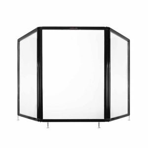"Countertop Screen 6'6"" x 3' Clear Acrylic Without Window with Adjustable Feet"