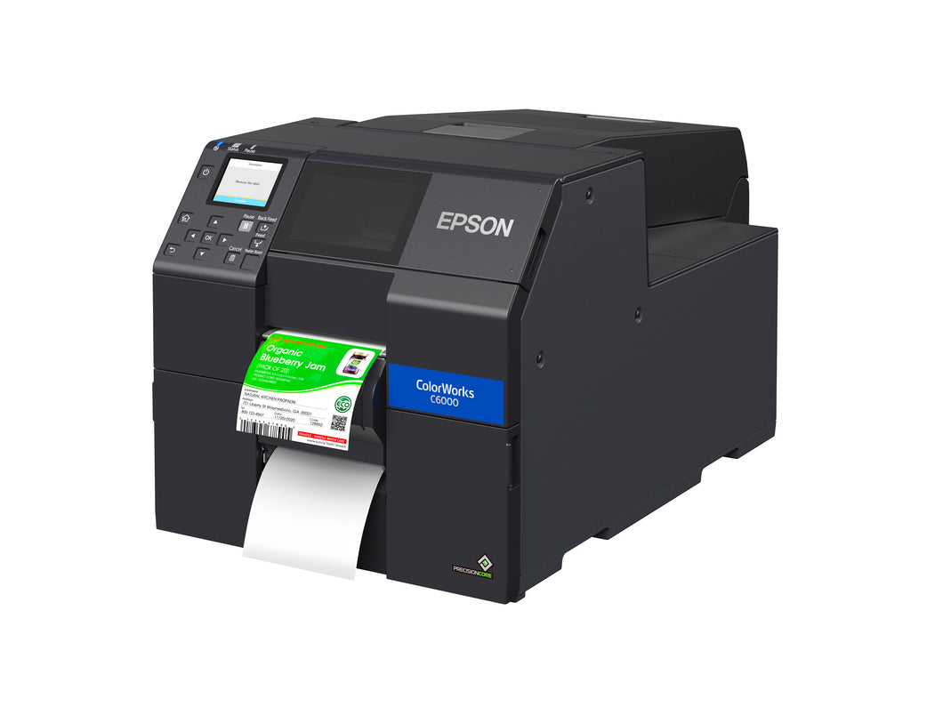 ColorWorks CW-C6000P Color Inkjet Label Printer with Peel-and-Present