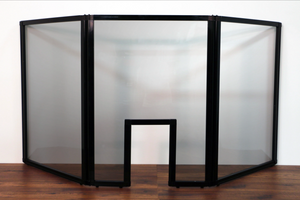 "Countertop Screen 6'6"" x 3' Clear Acrylic W/ Window with Adjustable Feet"