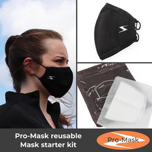 Pro-Mask Adult Starter Kit, One mask, Pack of 10 Filters, FREE USA Shipping!