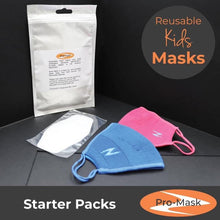 Pro-Mask Kids Starter Kit, reusable face mask, Pack of 10 Filters, FREE USA Shipping!