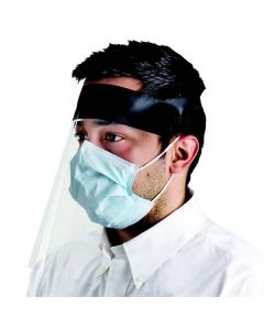 Face Shield With Rubber Head Band