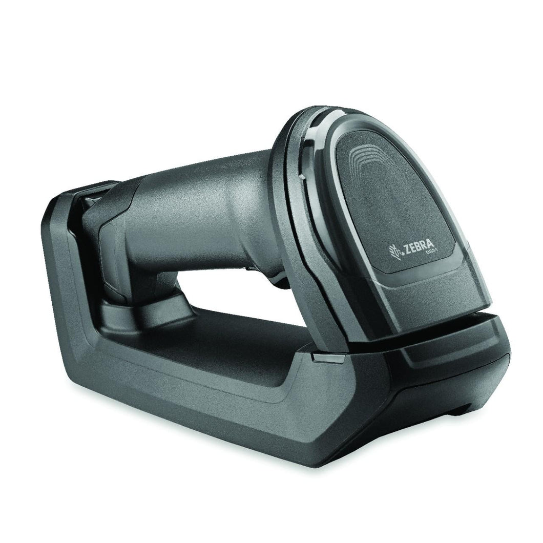 DS8178 Bluetooth Scanner Standard range 1D/2D Bluetooth cordless imager with USB kit with standard cradle.  Black