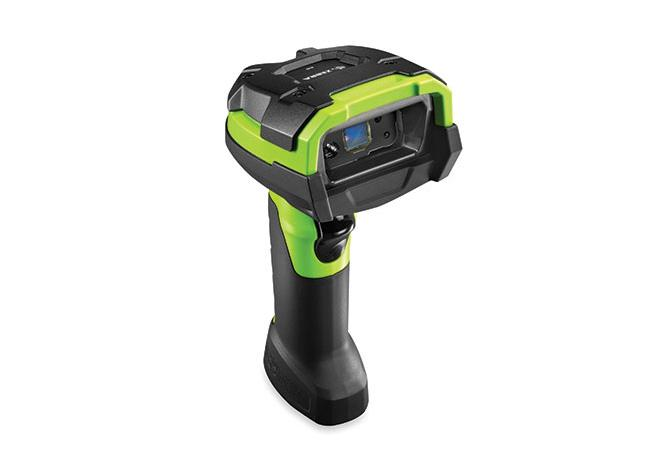 DS3600 Standard range 1D/2D bluetooth cordless scanner.  USB charging kit.  Vibration motor, industrial green.