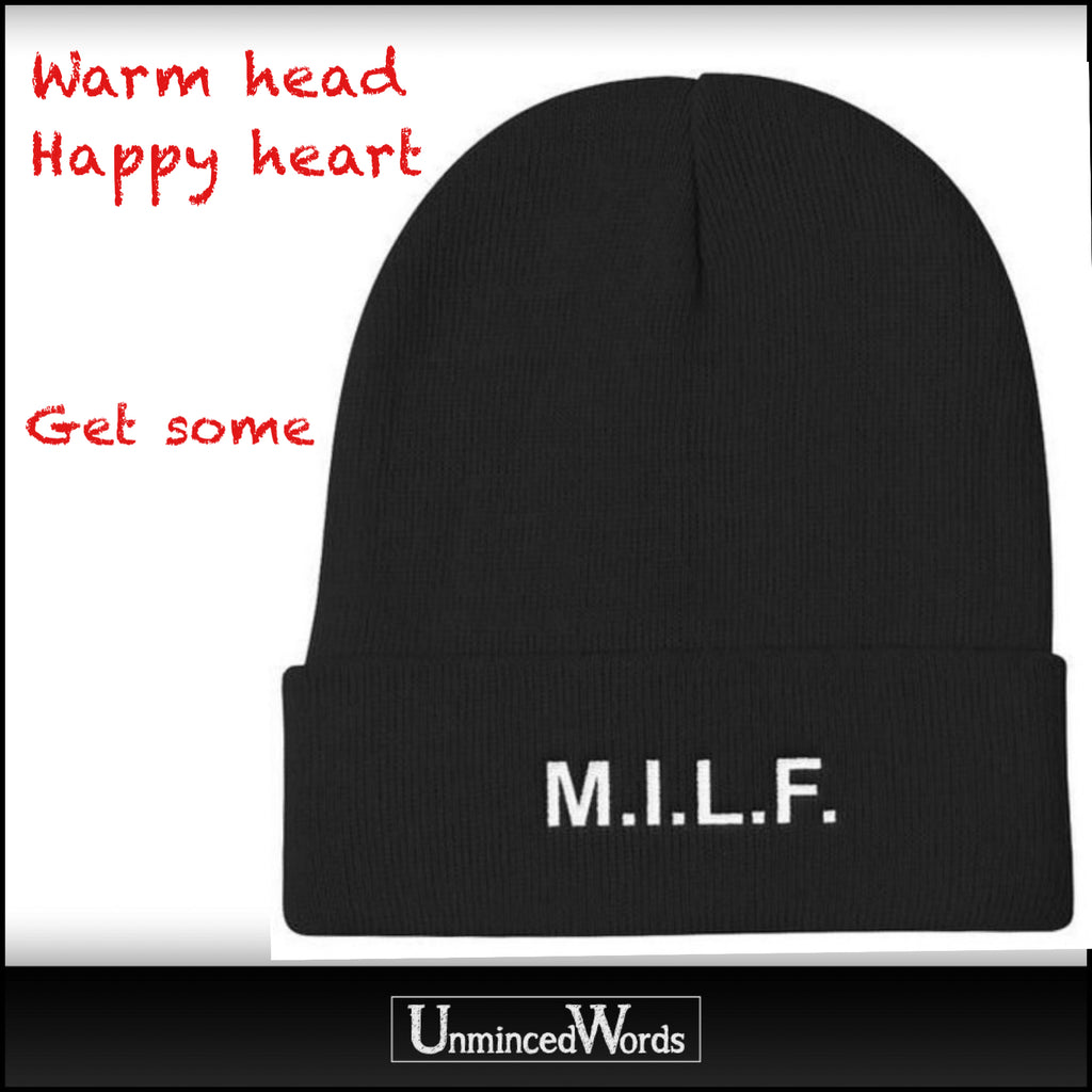 Warm head. Happy Heart. MILF head gear from Unminced.com