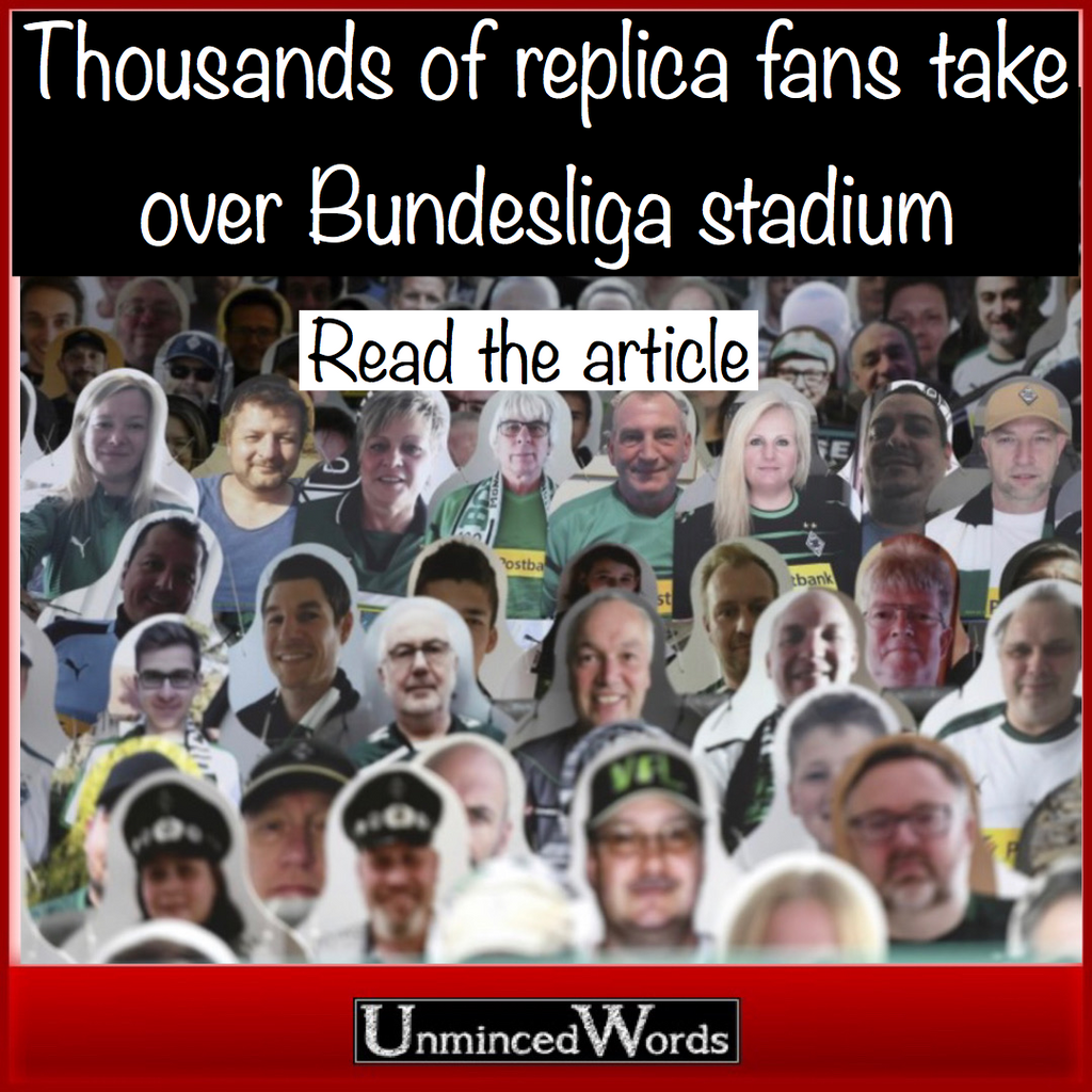 Replica fans take over Bundesliga stadium