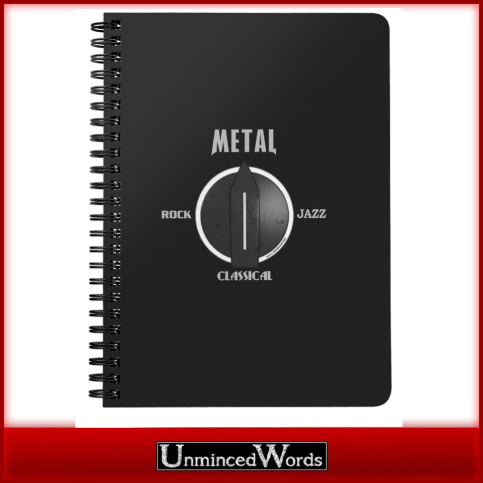 Turn The Dial To Metal - Notebook