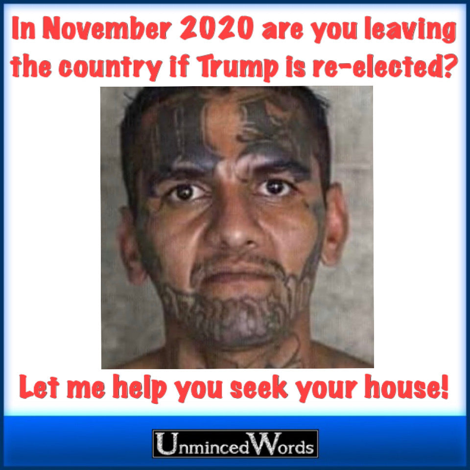 If Trump is re-elected, and you leave America, let me sell your house