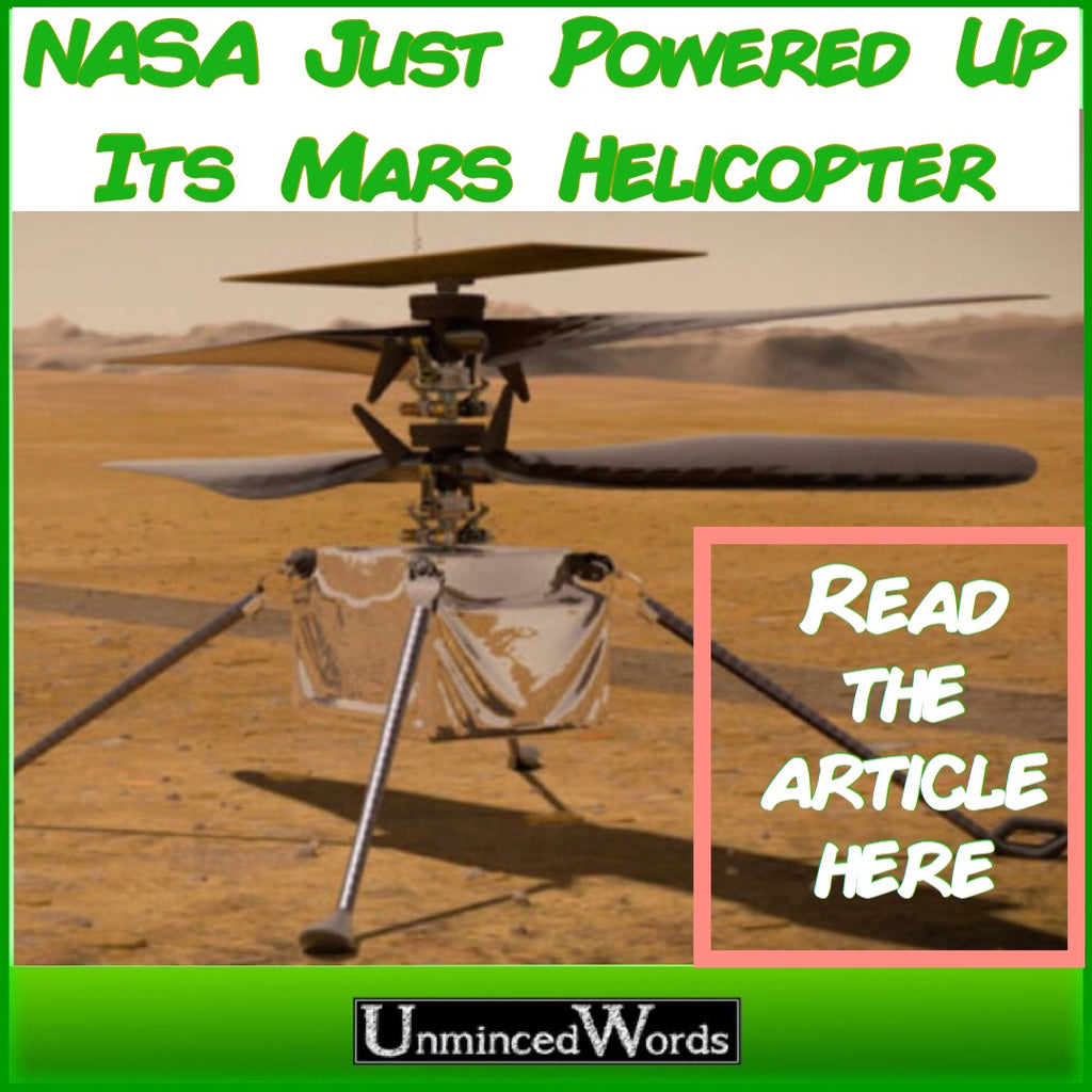 NASA Just Powered Up Its Mars Helicopter