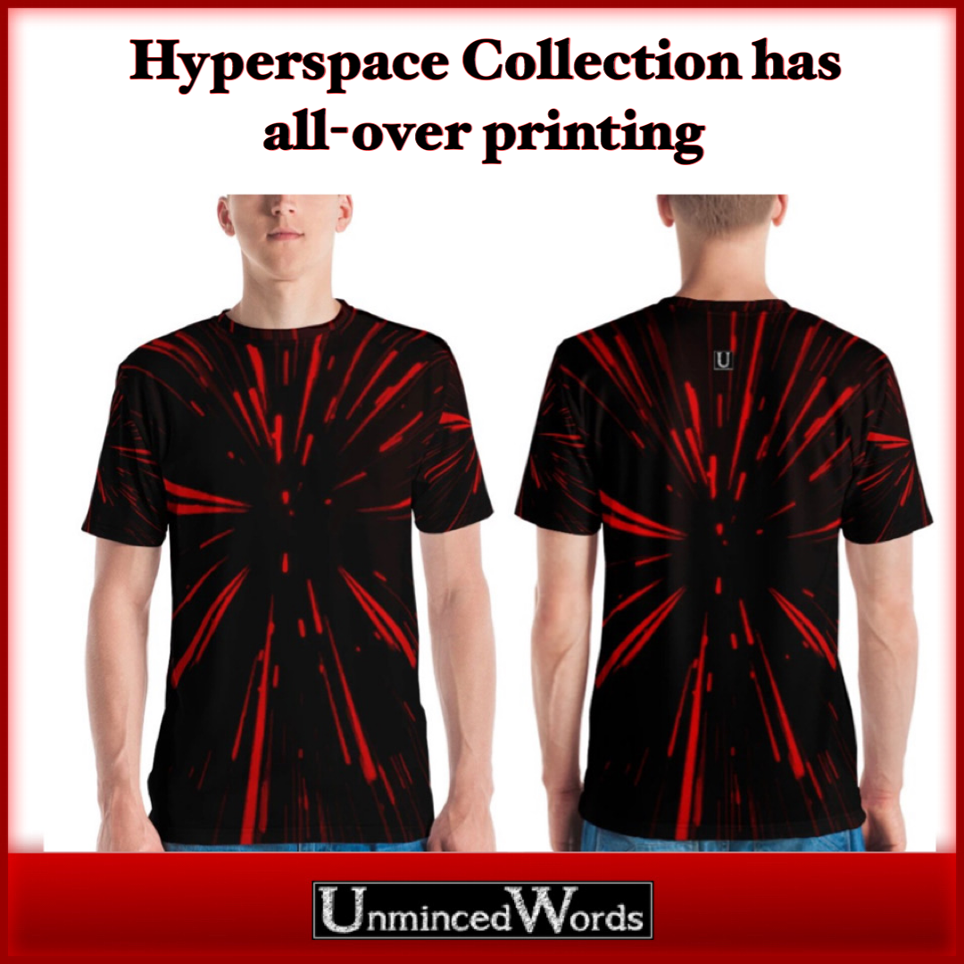 Hyperspace collection has all-over printing