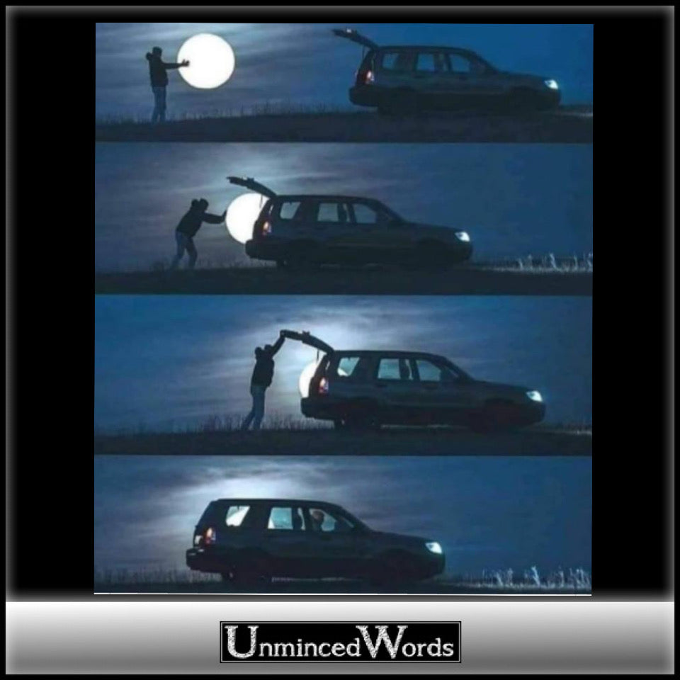 Photos of person stealing the moon  are super cool.