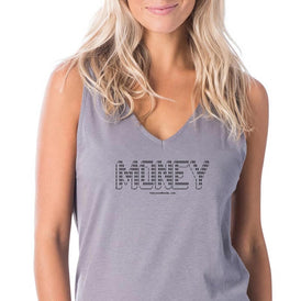 MONEY - Women's Racerback Tank - Unminced Words