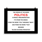 The Definition of Politics - Poster - Unminced Words