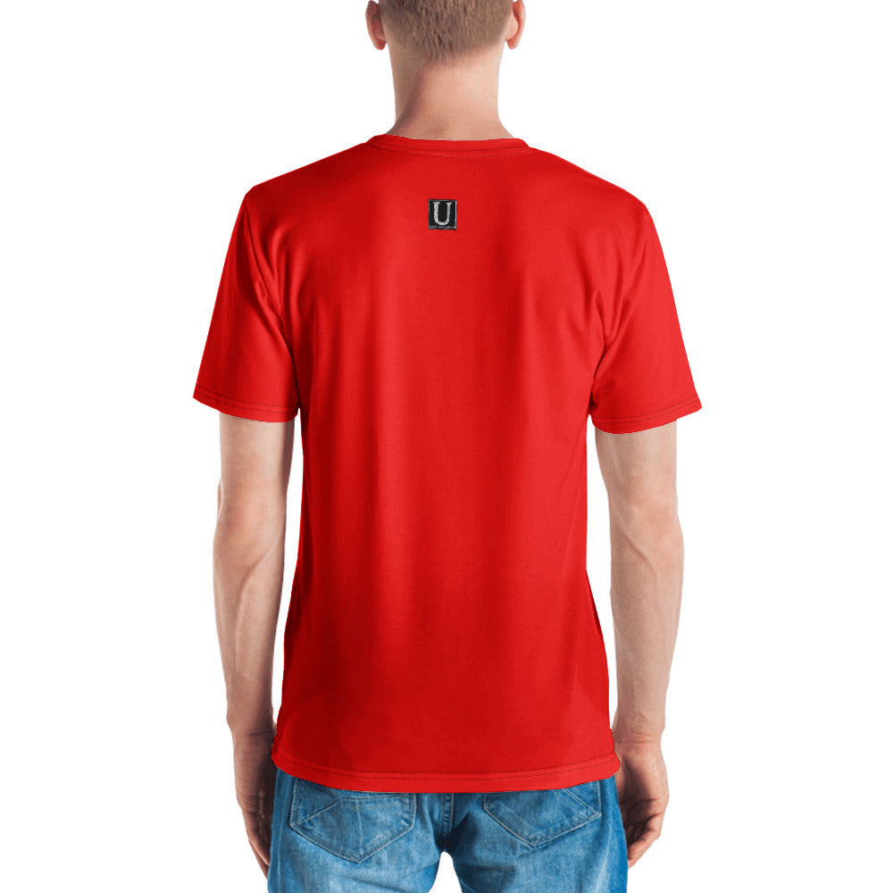 I'm So Busy RED - Men's V-Neck T-Shirt - Unminced Words