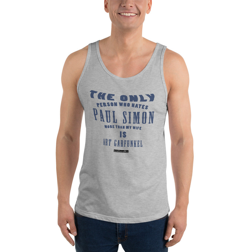 The Only Person Who Hates Paul Simon - Men's Tank Top - Unminced Words