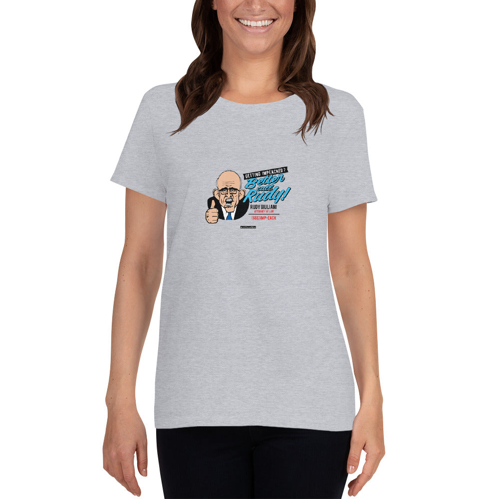 Getting Impeached? Women's short sleeve t-shirt - Unminced Words