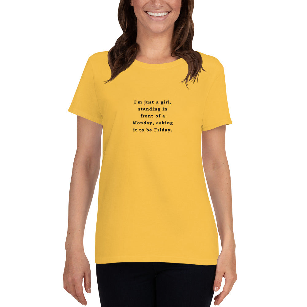 Just a Girl - Women's short sleeve t-shirt - Unminced Words