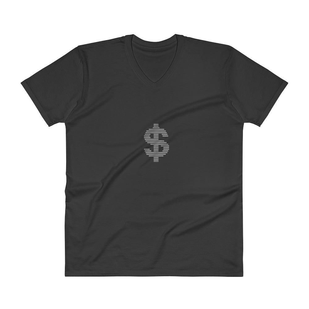Dollar - Men's V-Neck T-Shirt - Unminced Words