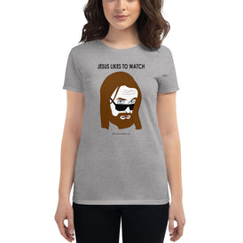 Jesus Likes to Watch - Women's short sleeve t-shirt - Unminced Words
