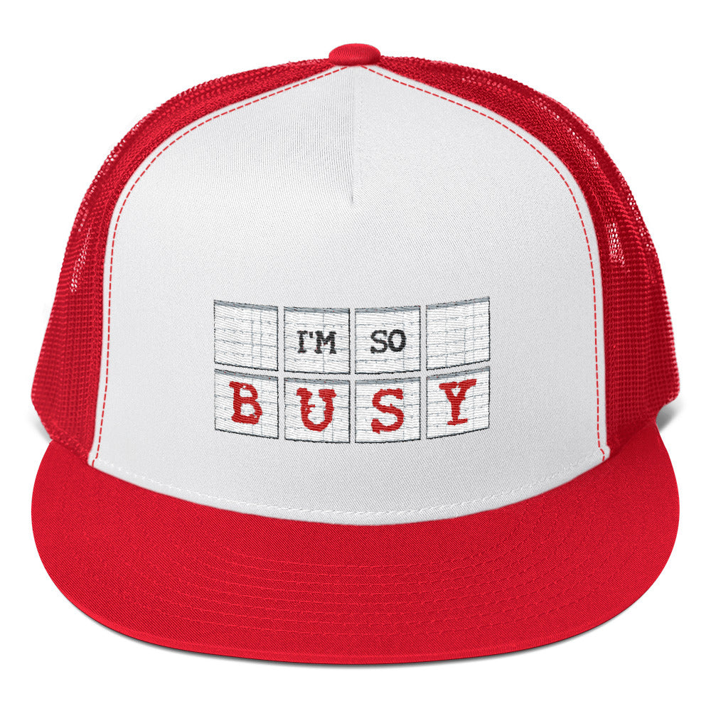 I'm So Busy RED - Cap