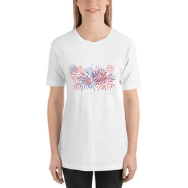 Fireworks - Short-Sleeve Woman's T-Shirt - Unminced Words