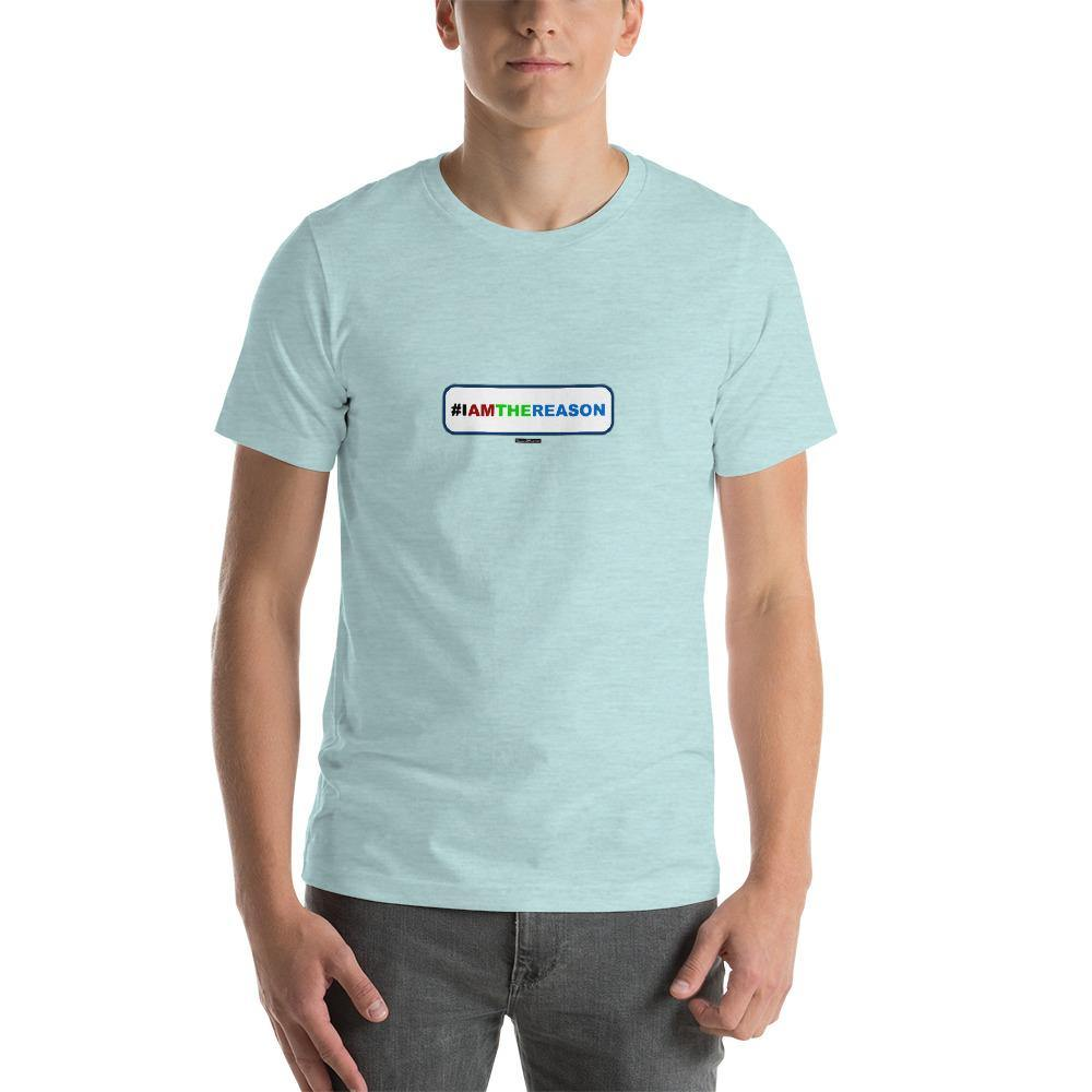 #IAMTHEREASON - Short-Sleeve Men's T-Shirt - Unminced Words