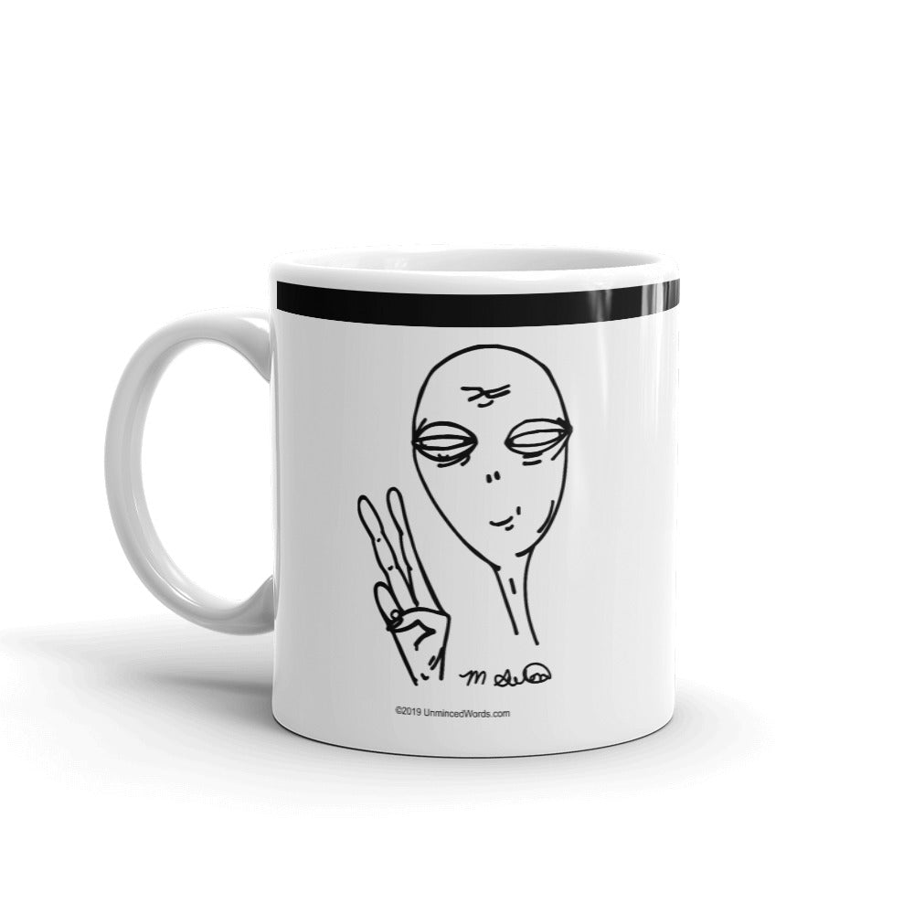 Peaceful Alien - Mug - Unminced Words
