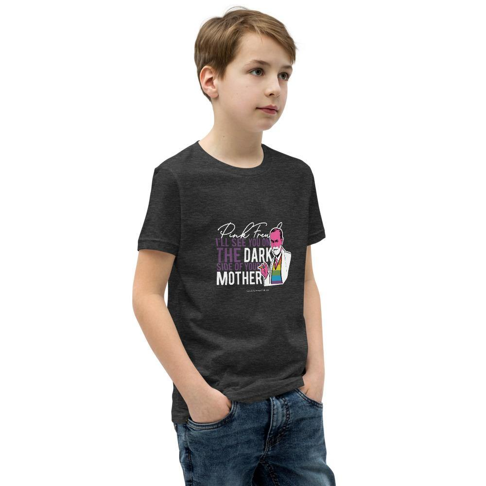 Pink Freud - Youth Short Sleeve T-Shirt - Unminced Words