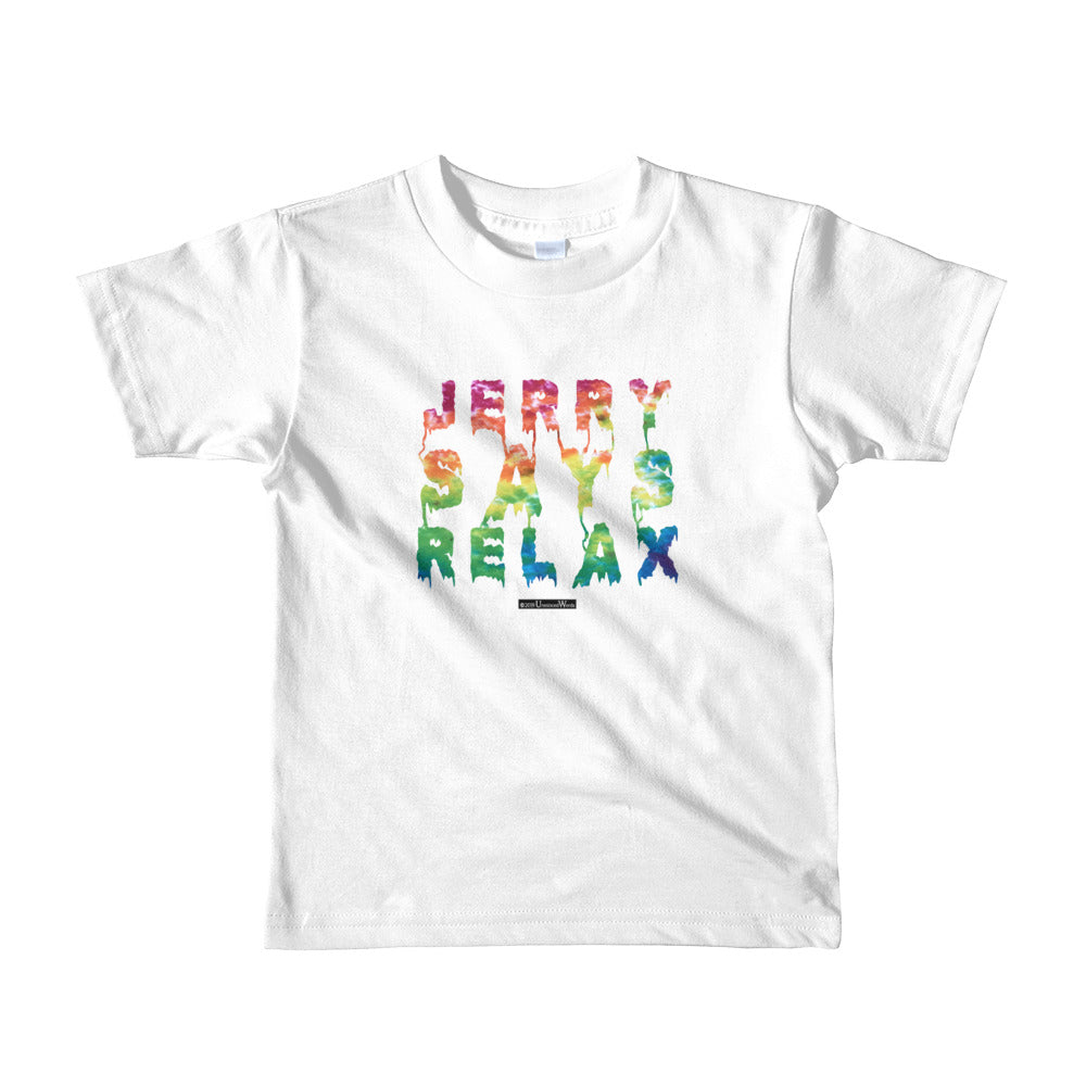 Jerry Says Relax - Short sleeve kids t-shirt