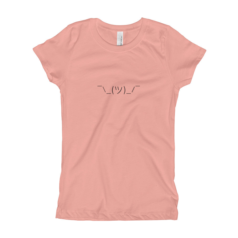 Shrug - Girl's T-Shirt - Unminced Words