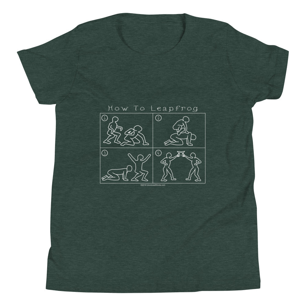 How To Leapfrog - Youth Short Sleeve T-Shirt - Unminced Words