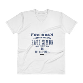 The Only Person Who Hates Paul Simon - Men's V-Neck T-Shirt - Unminced Words