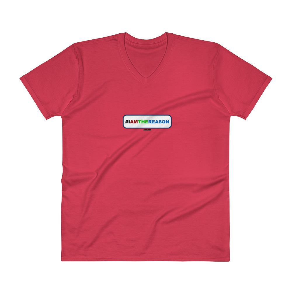 #IAMTHEREASON - Men's V-Neck T-Shirt - Unminced Words