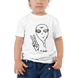 Peaceful Alien - Toddler Short Sleeve Tee - Unminced Words
