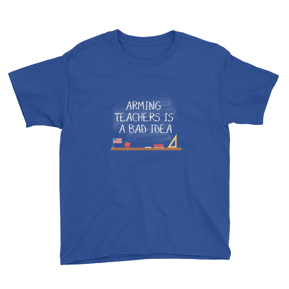 Arming Teachers - Youth Short Sleeve T-Shirt - Unminced Words