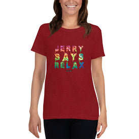 Jerry Says Relax - Women's short sleeve t-shirt - Unminced Words