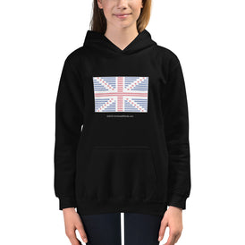 Union Flag ASCII - Kids Hoodie - Unminced Words