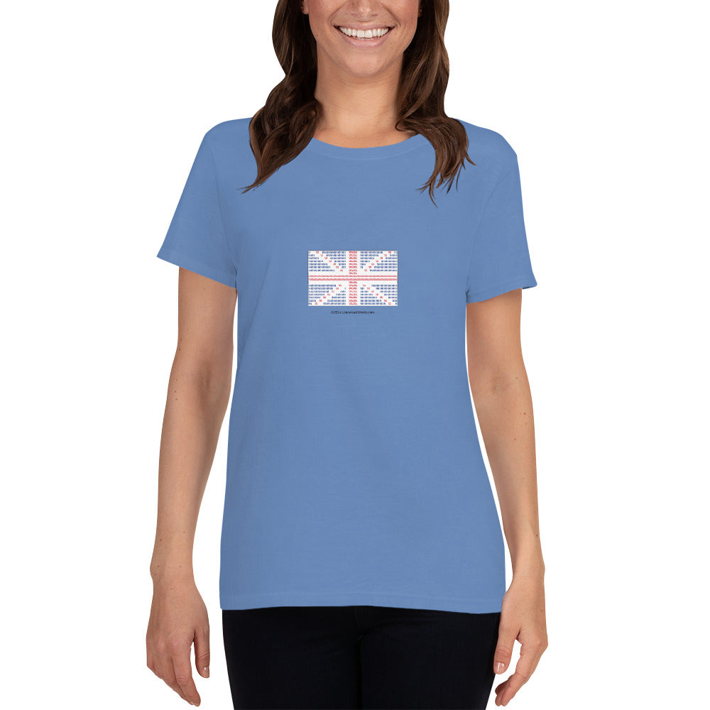 Union Flag ASCII - Women's short sleeve t-shirt - Unminced Words