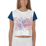 Fireworks - Ladies' Crop Tee - Unminced Words