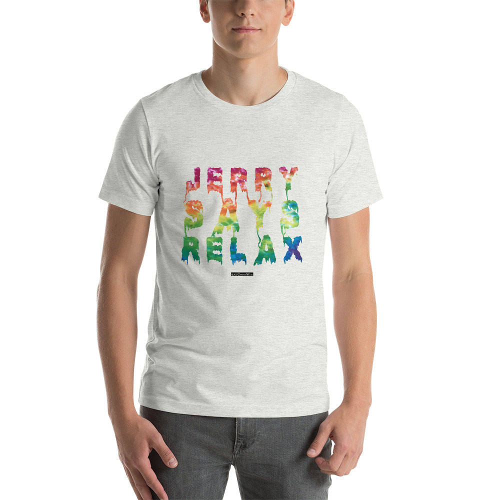 Jerry Says Relax - Short-Sleeve Men's T-Shirt - Unminced Words