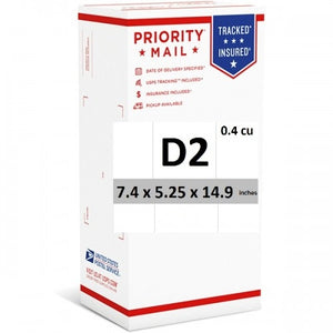 "Priority Mail Cubic Dimension Box (D2) 7.4"" x 5.25"" x 14.9"" (Top Loaded) (25 Pcs)"