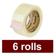 Packaging Tape (6 rolls)