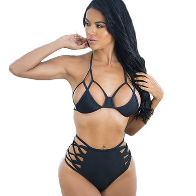 FIFTYSHADESOFDIVA Caged 2pc Bikini (Curvy Sizes Available)