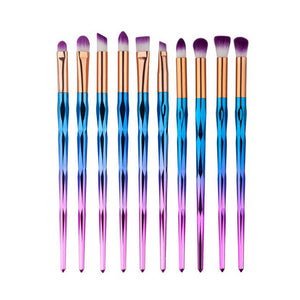 FIFTYSHADESOFDIVA 4/6/10pcs Rainbow Makeup Diamond Brush
