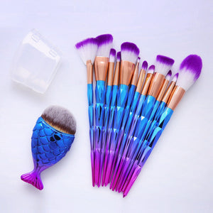 FIFTYSHADESOFDIVA 7/12Pcs Diamond Shape Makeup Brushes Set