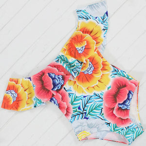 FIFTYSHADESOFDIVA Floral Off The Shoulder SwimSuit {Curvy Sizes Available}